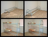 Кровати металлические для общежитий, бытовок